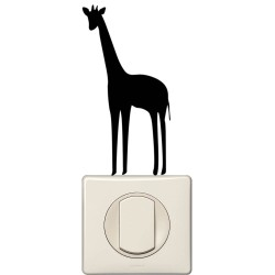 Sticker interrupteur girafe