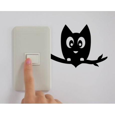 Sticker interrupteur hibou sur une branche stickers pas - Interrupteur design pas cher ...