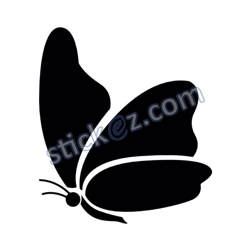 sticker papillon stickers pas cher. Black Bedroom Furniture Sets. Home Design Ideas