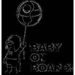 Sticker baby on board Vador