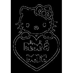 Sticker bébé à bord Kitty