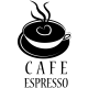 Sticker cuisine café espresso