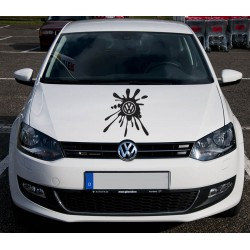 Sticker auto Volkswagen splash