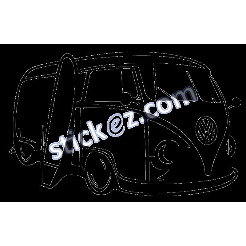 Sticker combi Volkswagen VW - Stickers pas cher - stickez.com