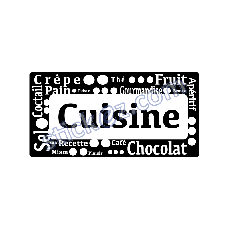 sticker pancarte criture cuisine stickers pas cher. Black Bedroom Furniture Sets. Home Design Ideas