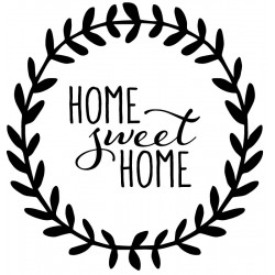 Sticker Home Sweet Home laurier