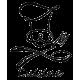 Sticker ustencils de cuisine chapeau écriture