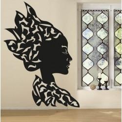 Sticker tête femme africaine