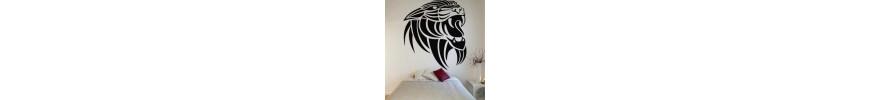 Stickers muraux, déco & stickers tribal lions - stickers pas cher - stickez.com