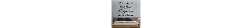 Stickers muraux, déco & stickers citations français - stickers pas cher - stickez.com